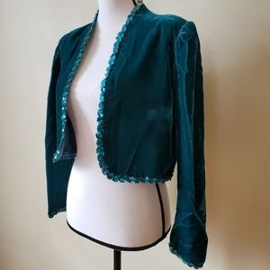 Gunne Sax early 80s Cropped Evening Jacket